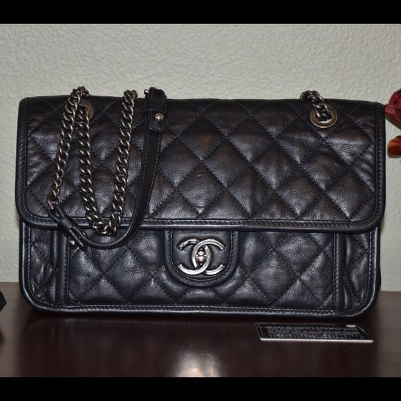 ccd48cd29f 100% auth Chanel French Riviera single flap 15c Excellent condition. Comes  with dust bag, auth card and care booklet. No significant signs of wear.
