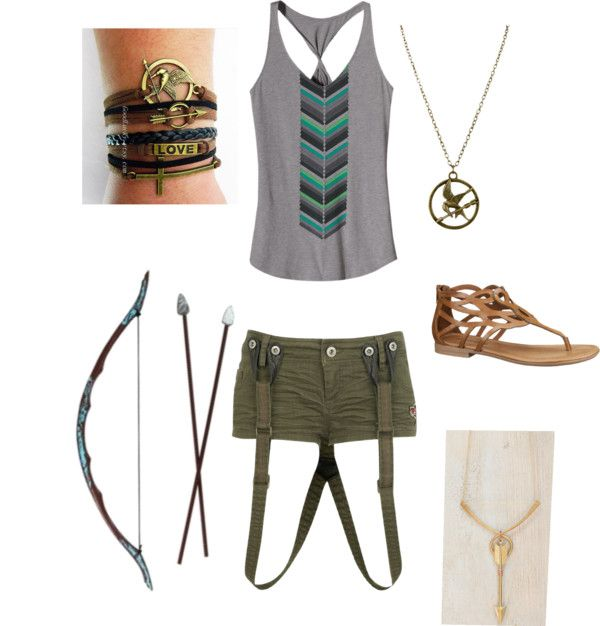 """""""hunger games inspired outfit"""" by gingerbreadsel ❤ liked on Polyvore"""