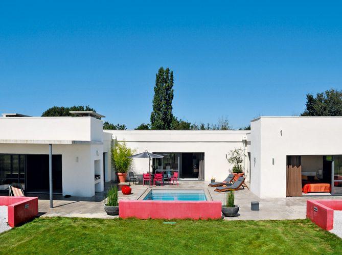 Fabuleux Plan et photo maison plain pied en L ou plein pied en rez de  TT66