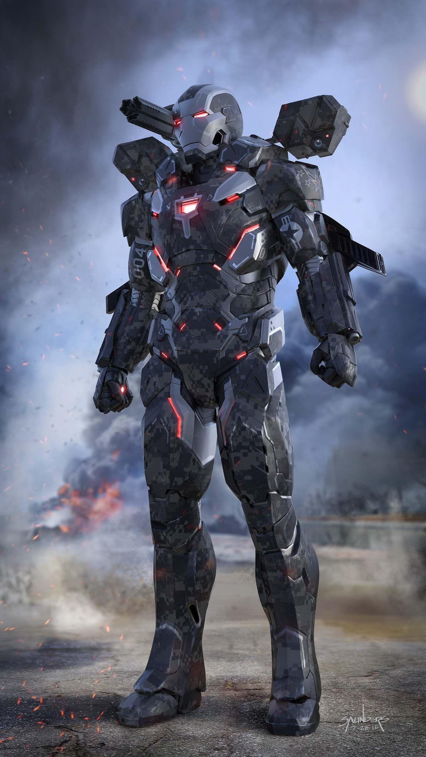 War Machine Armor Mark 4 Avengers Endgame iPhone Wallpaper