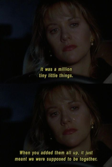 cool A million tiny little things... Sleepless in Seattle... Best Quotes Love Check more at http://bestquotes.name/pin/99762/