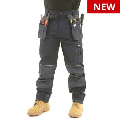 f0a00329c18b5 Mens Heavy Duty Cargo Holster Pocket Work Trousers By SITE KING with Knee  Pad Pockets