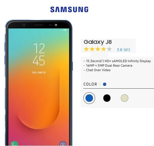Samsung Galaxy J8 for the best price in India from ...