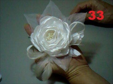 Aula 33 Arranjo De Flores De Tecido Para Cabelos E Roupas Festas