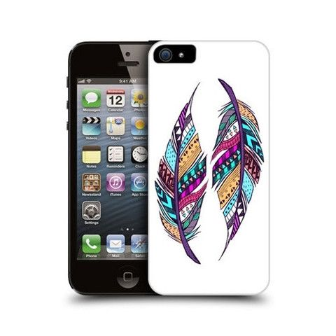AZTEC FEATHER ILLUSTRATION DESIGN BACK CASE COVER FOR APPLE iPHONE 5 £14.95