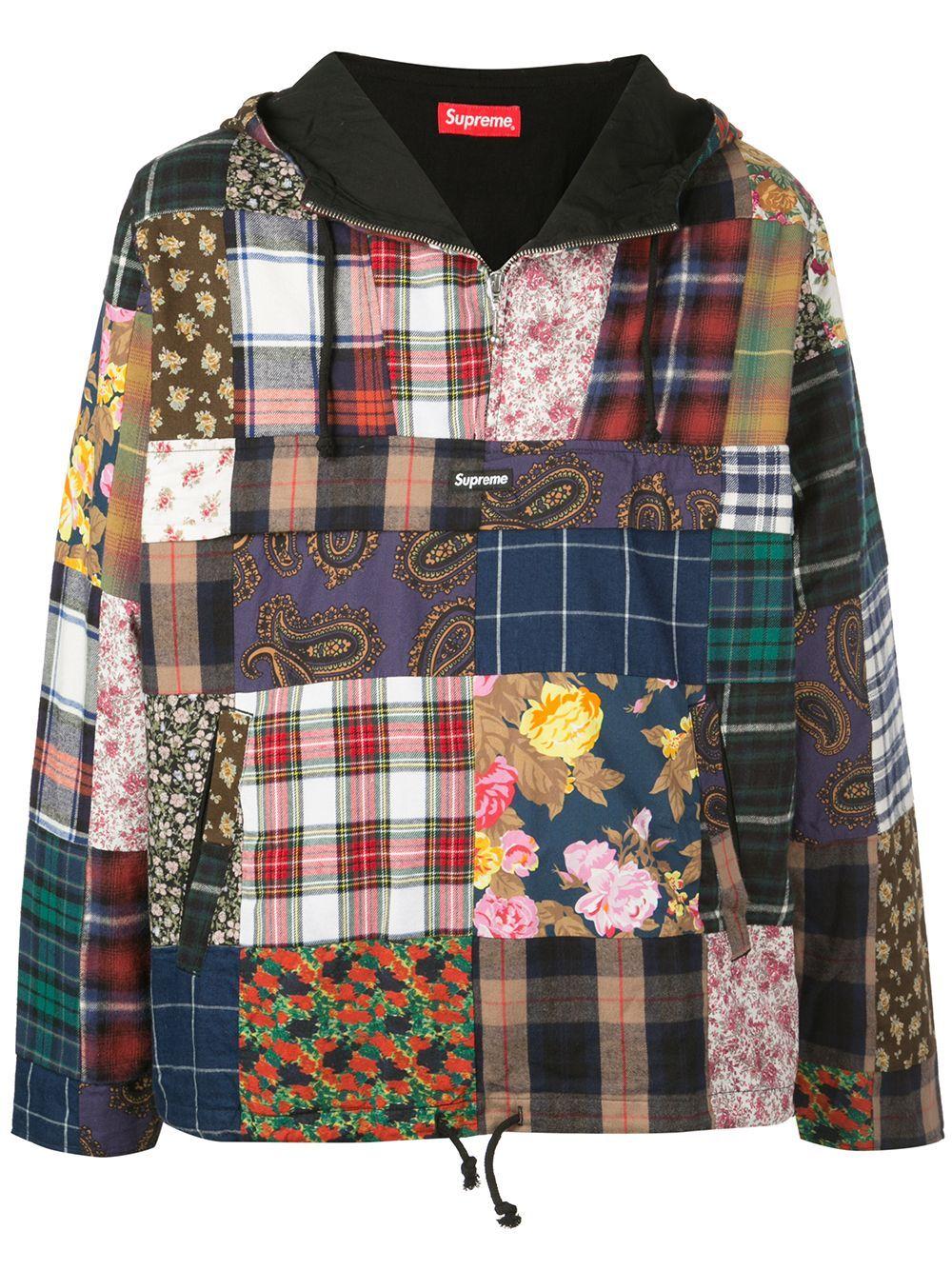 Supreme Patchwork Anorak Jacket Farfetch Anorak Jacket Patchwork Clothes Quilted Clothes [ 1334 x 1000 Pixel ]