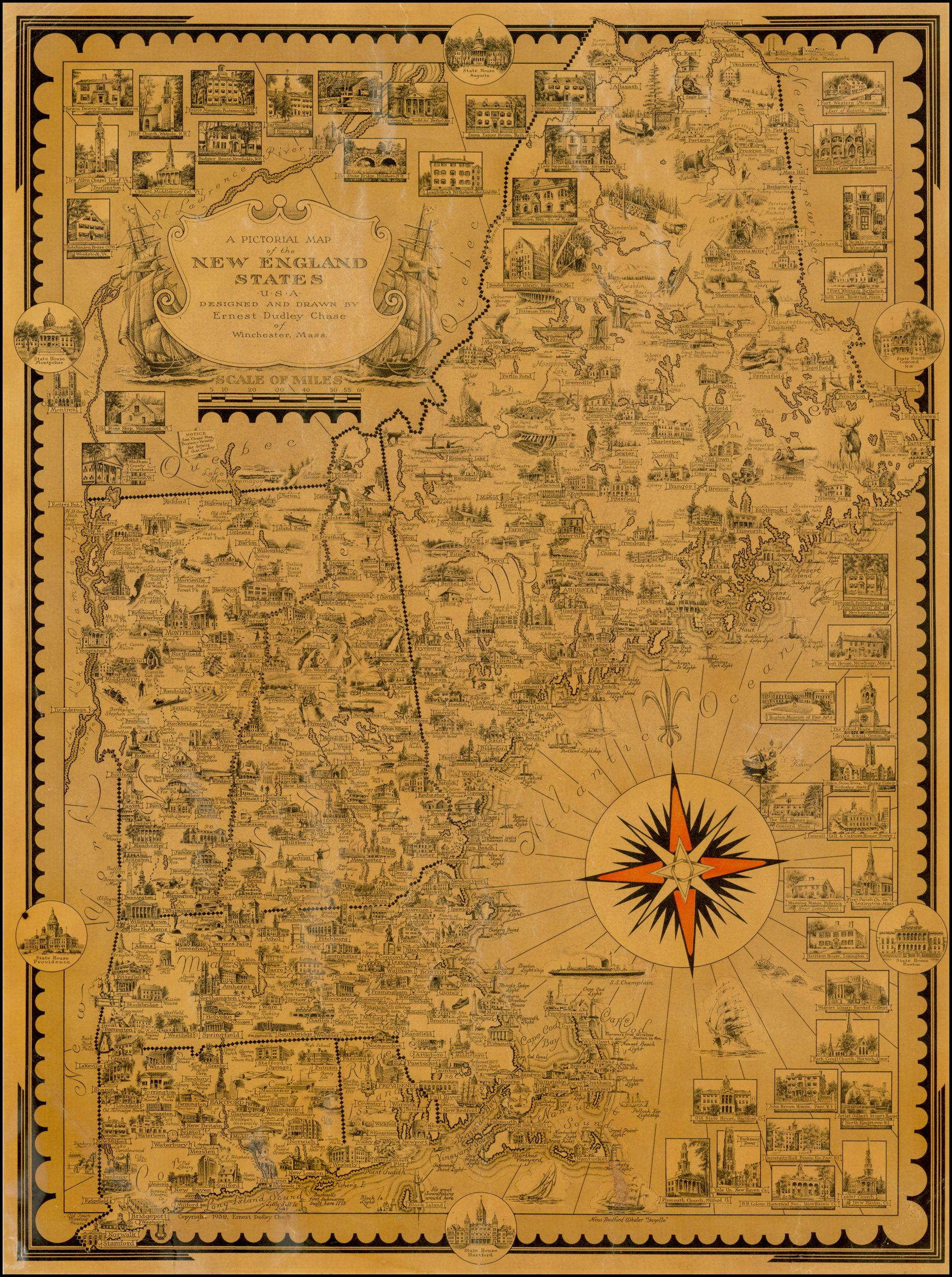 A Pictorial Map of the New England