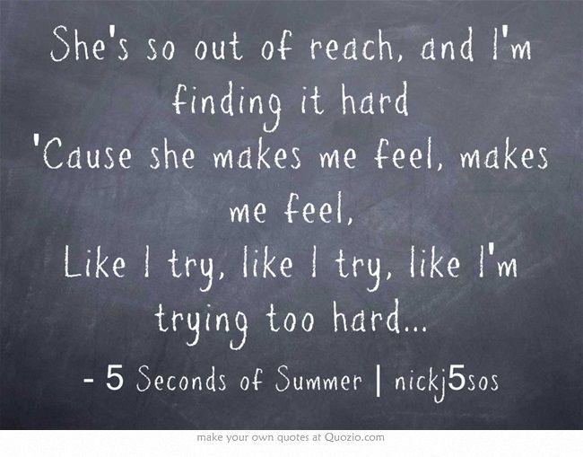 Try Hard 5sos 5sos Lyrics Sing To Me 5sos