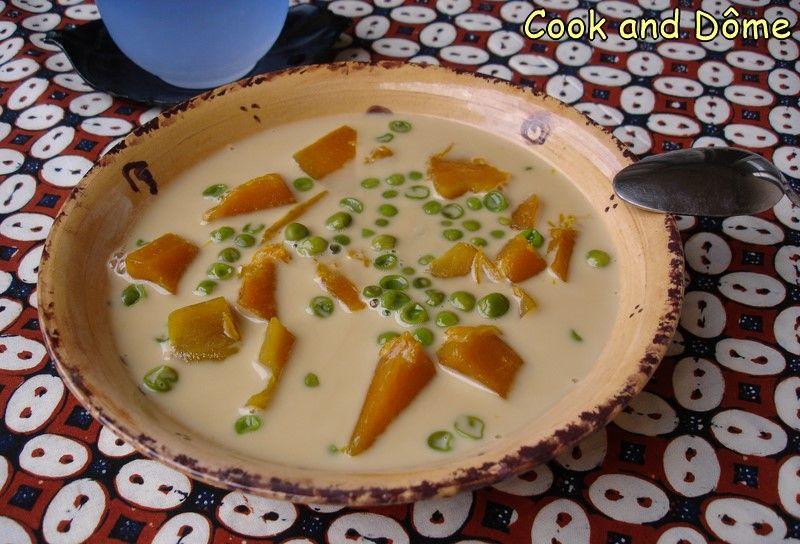 Cette soupe thaïlandaise sucrée chaude au lait de coco est une douceur étonnante totalement atypique pour la cuisine française, qui vous déroutera
