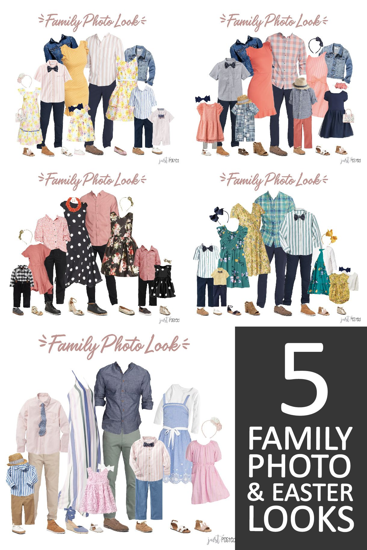 What to Wear for Family Pictures - 5 different color options!