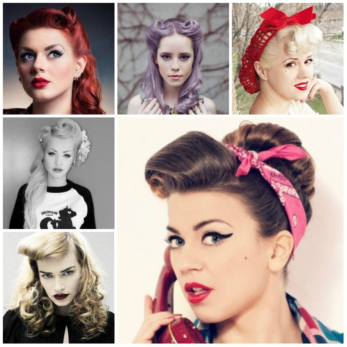 Pin Up Girl Short Hairstyles Hairstyle For Women With Bandana And