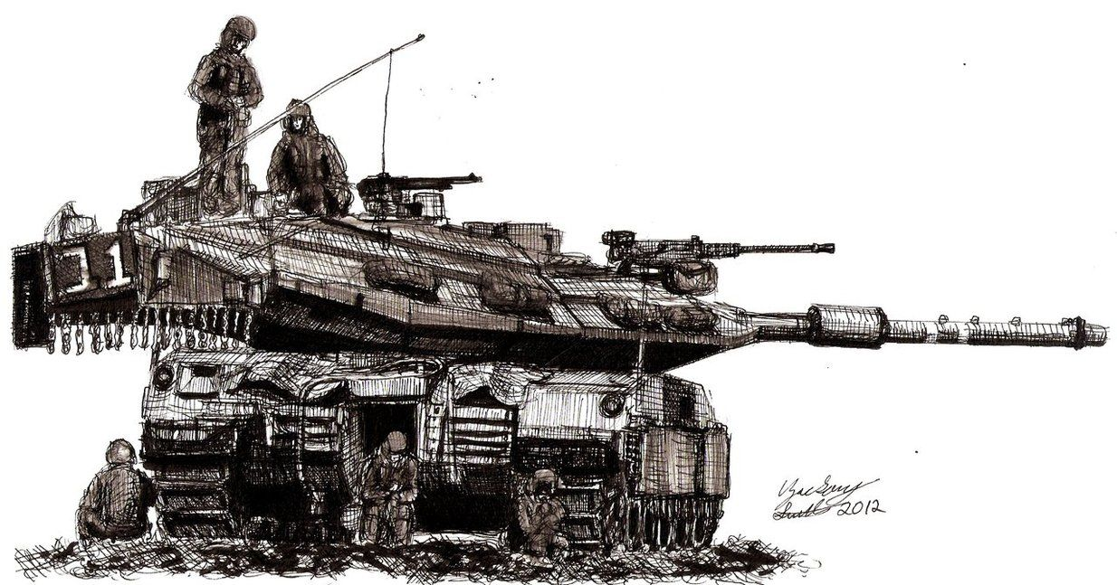 Beast at Rest (Israeli Merkava MK 4 Tank) by shank117 on