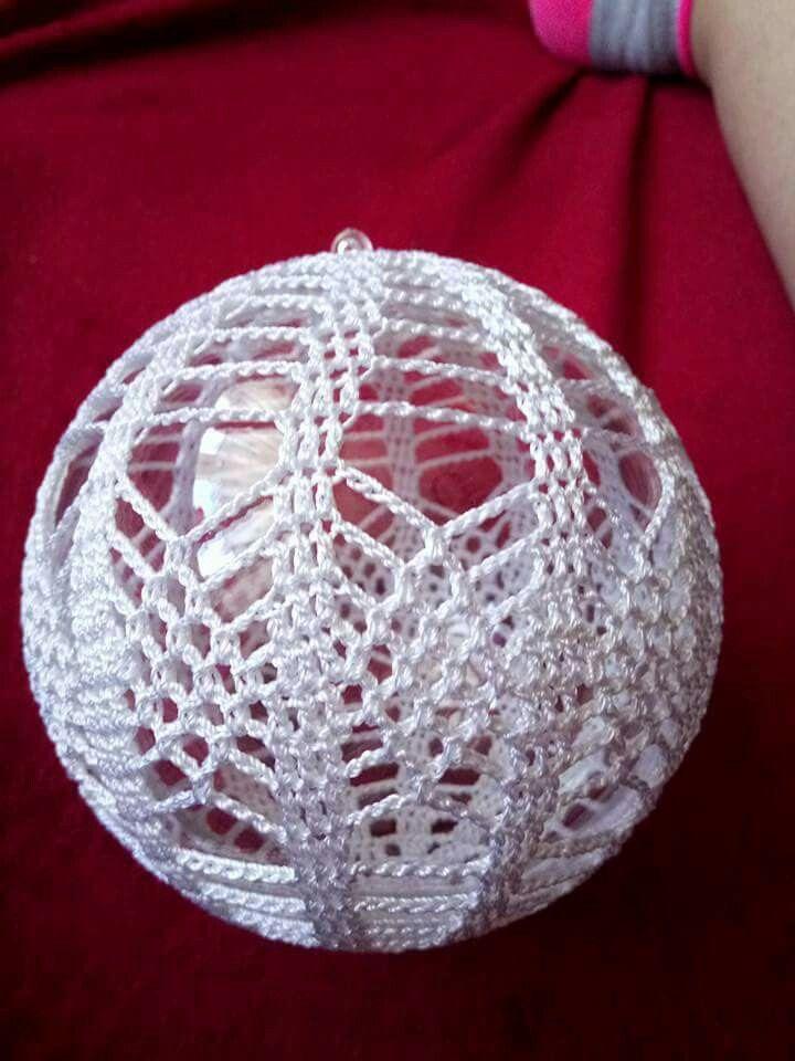 Pin Van Mina De Vries Op Kerstballen Haken Bombki Crochet
