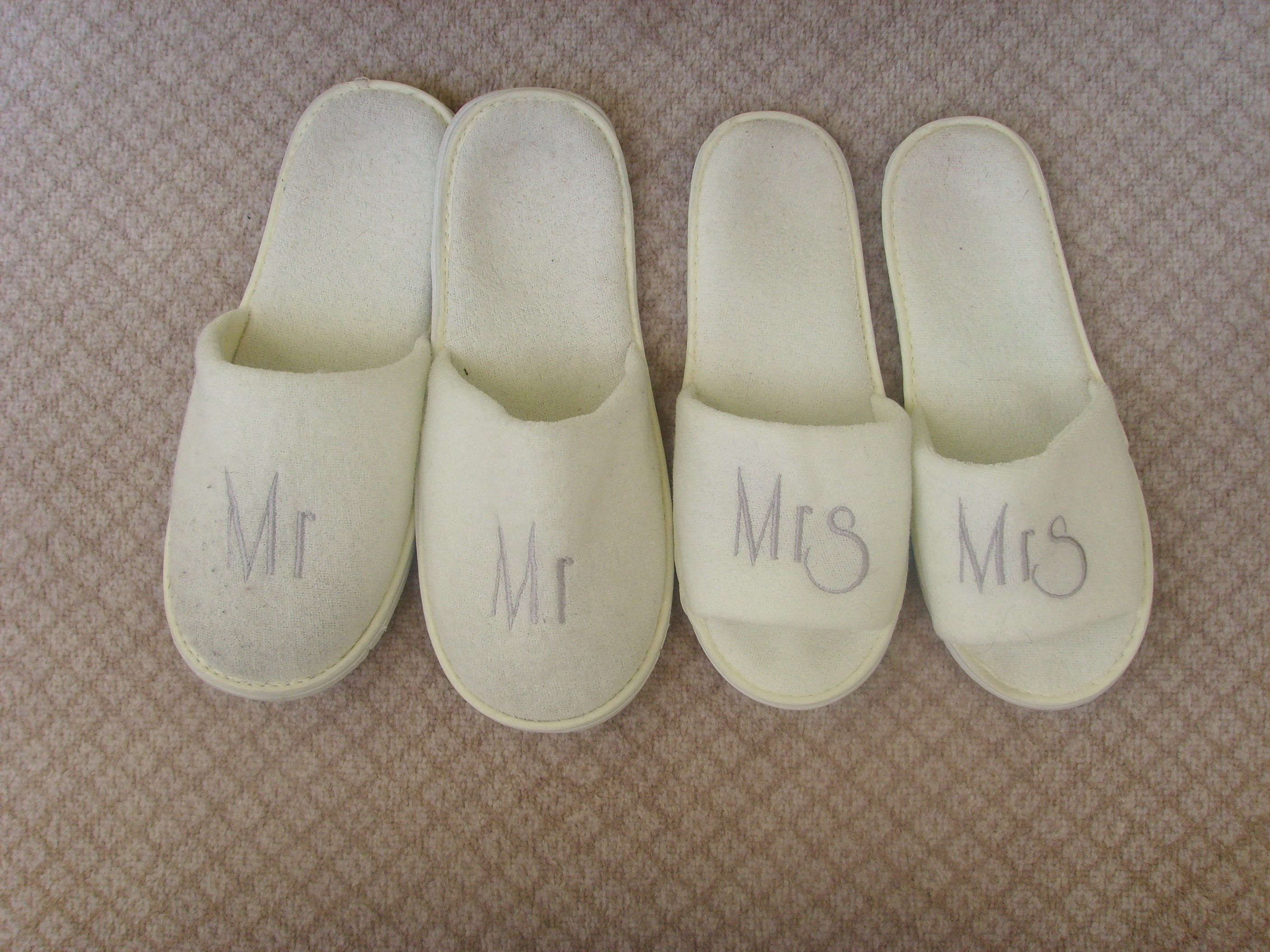 Wedding slippers! A gift from hubby