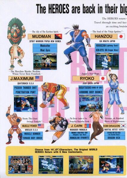World Heroes 2 Consoles De Videogame Personagens Jogos