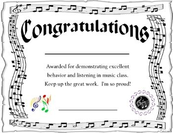 Award for the Music Classroom - EDITABLE | Music class and Music ...