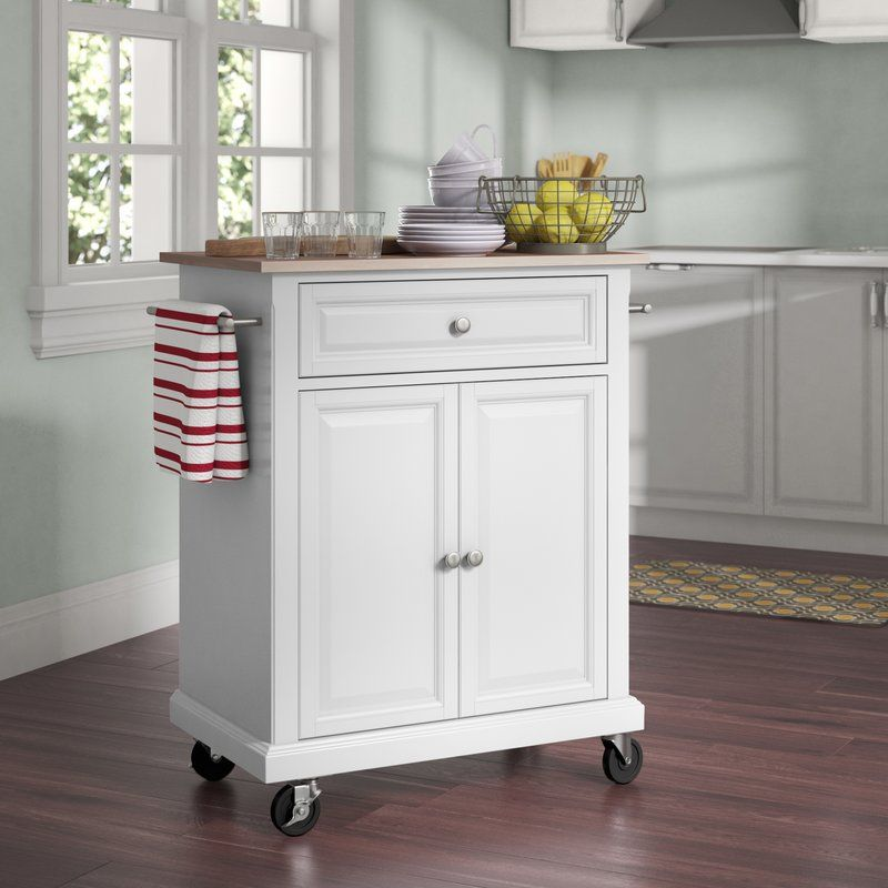 Hedon Kitchen Cart With Stainless Steel Top With Images