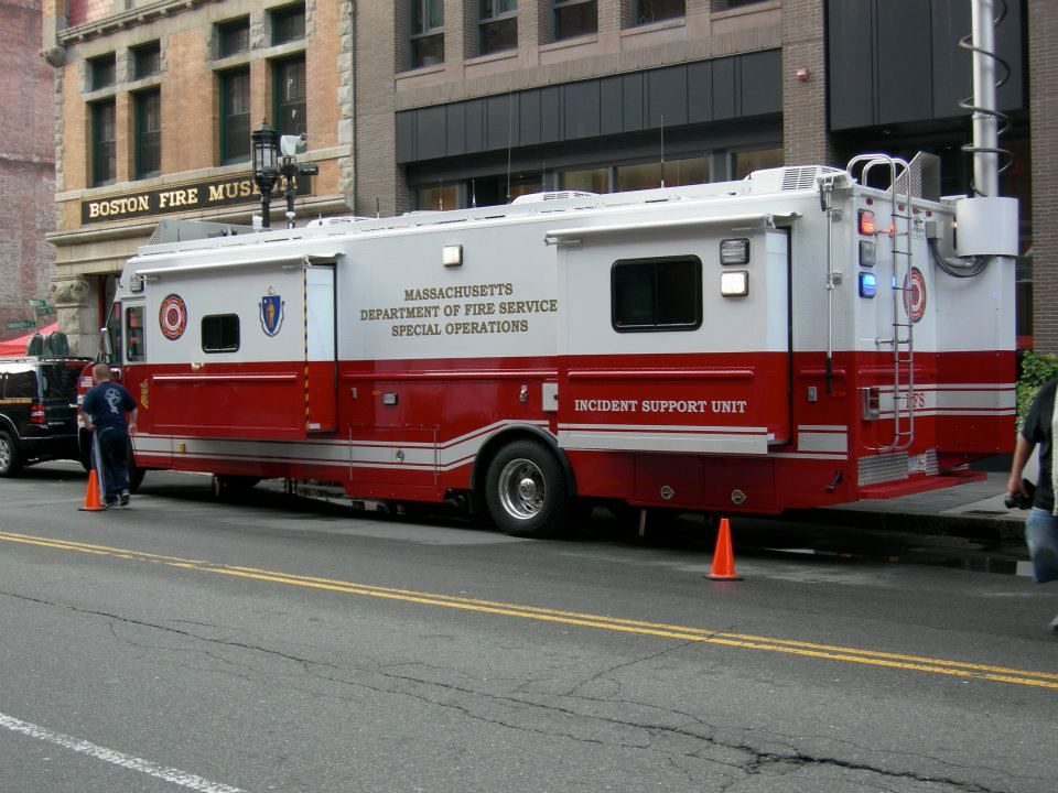The Dfs Command Post Outside The Boston Sparks Headquarters