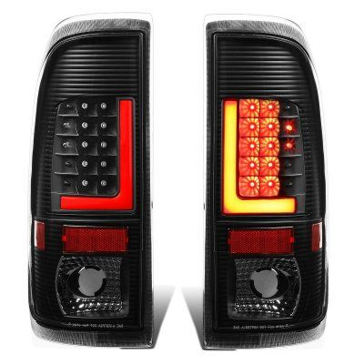 Ford F150 1997 2003 Black Led Tail Lights Red Tube F150 Led Tail Lights Ford F150