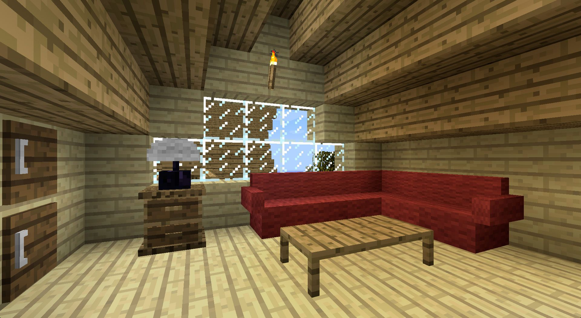 how to make blinds in minecraft