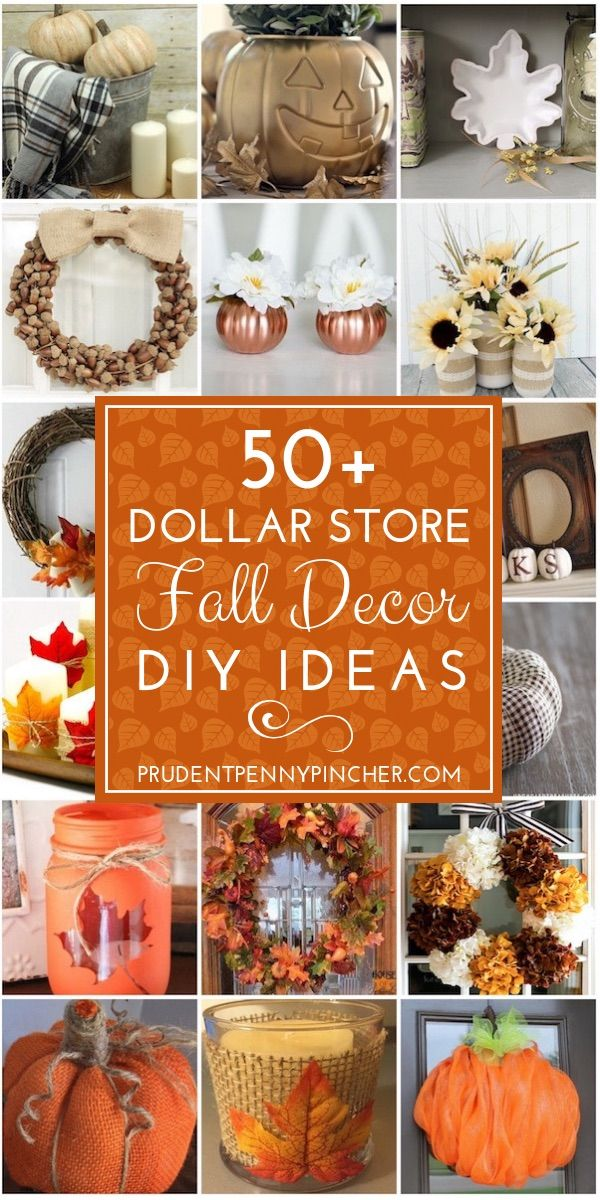 50 Dollar Store Fall Decor Ideas #falldecorideasforthehome