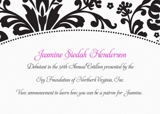 Cotillion Advertizing Send your own invitation or greeting card - invitation templates for farewell party