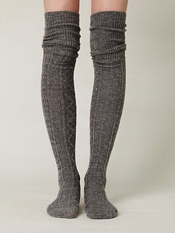 55b4bab4efc40 extra long cable knit socks I have these - I love them | For when I ...