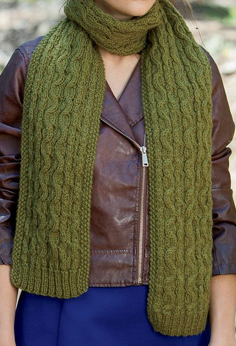 Knitting Pattern for Reversible Chokecherry Scarf - Easy ...