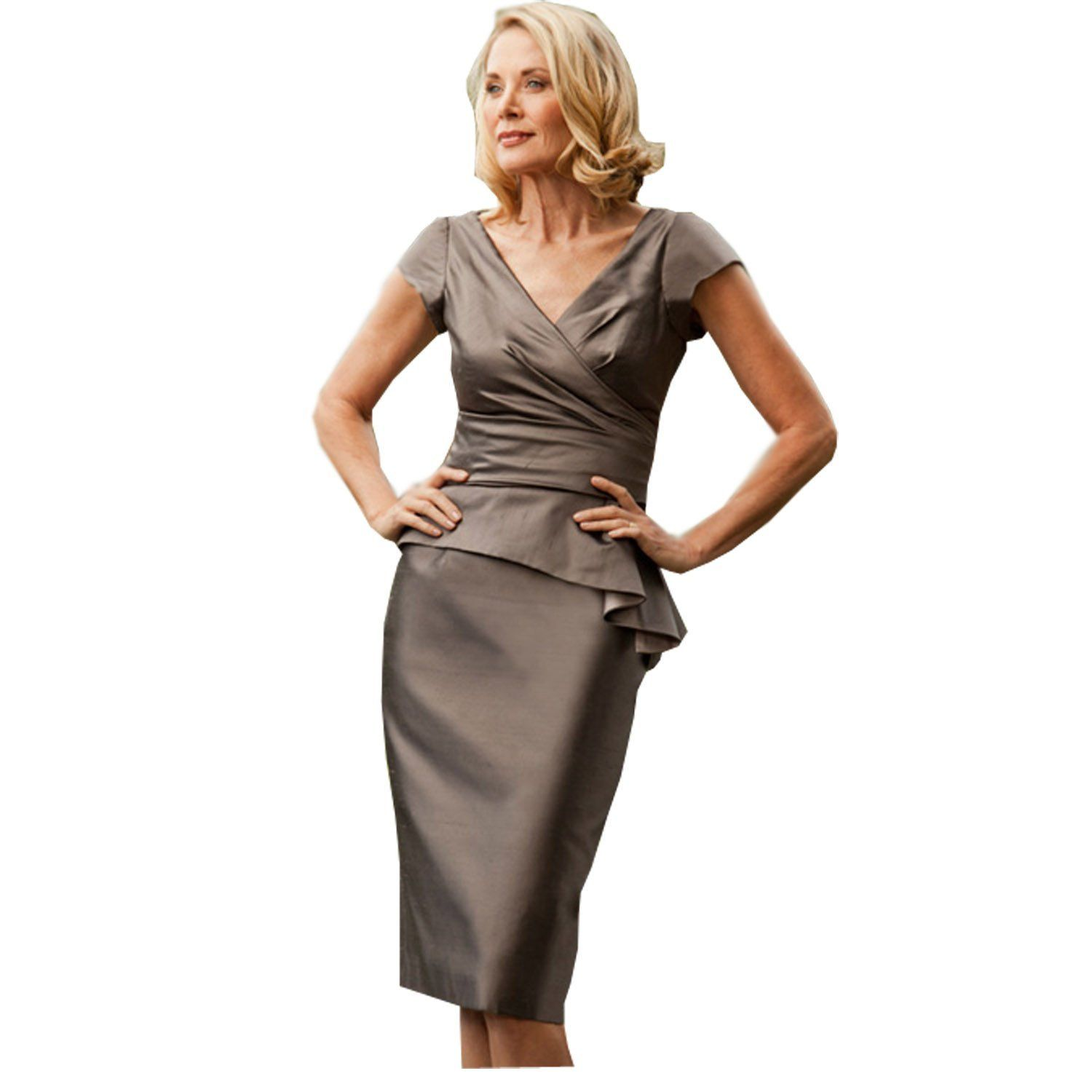 65da109928eb Kelaixiang Coffee Wrinkle Resistant Women Formal Dress Knee Length 2 Pieces      Insider s special review you can t miss. Read more   mother of the  bride ...