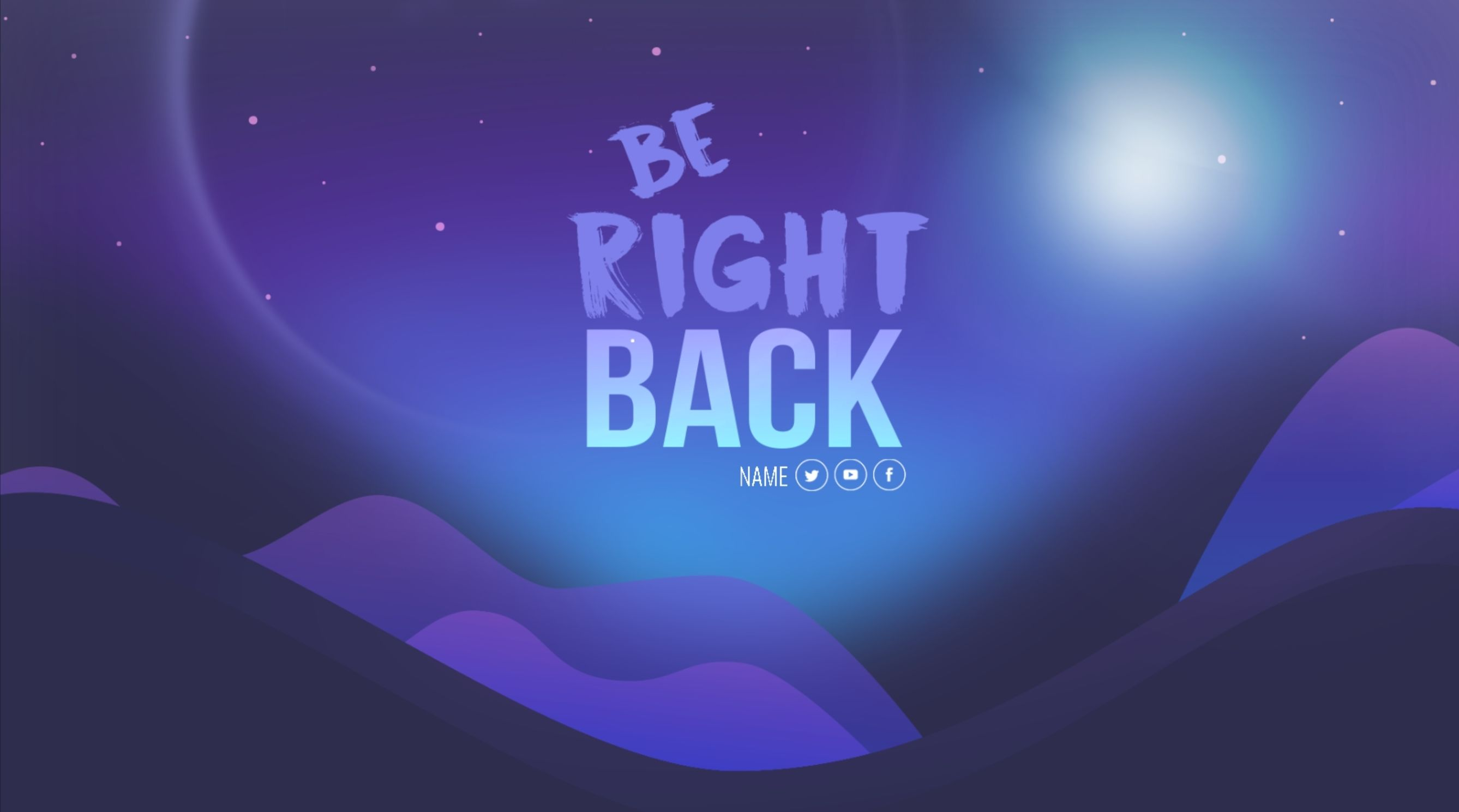 Library / Streamlabs | Twitch Be Right Back | Graphic design art