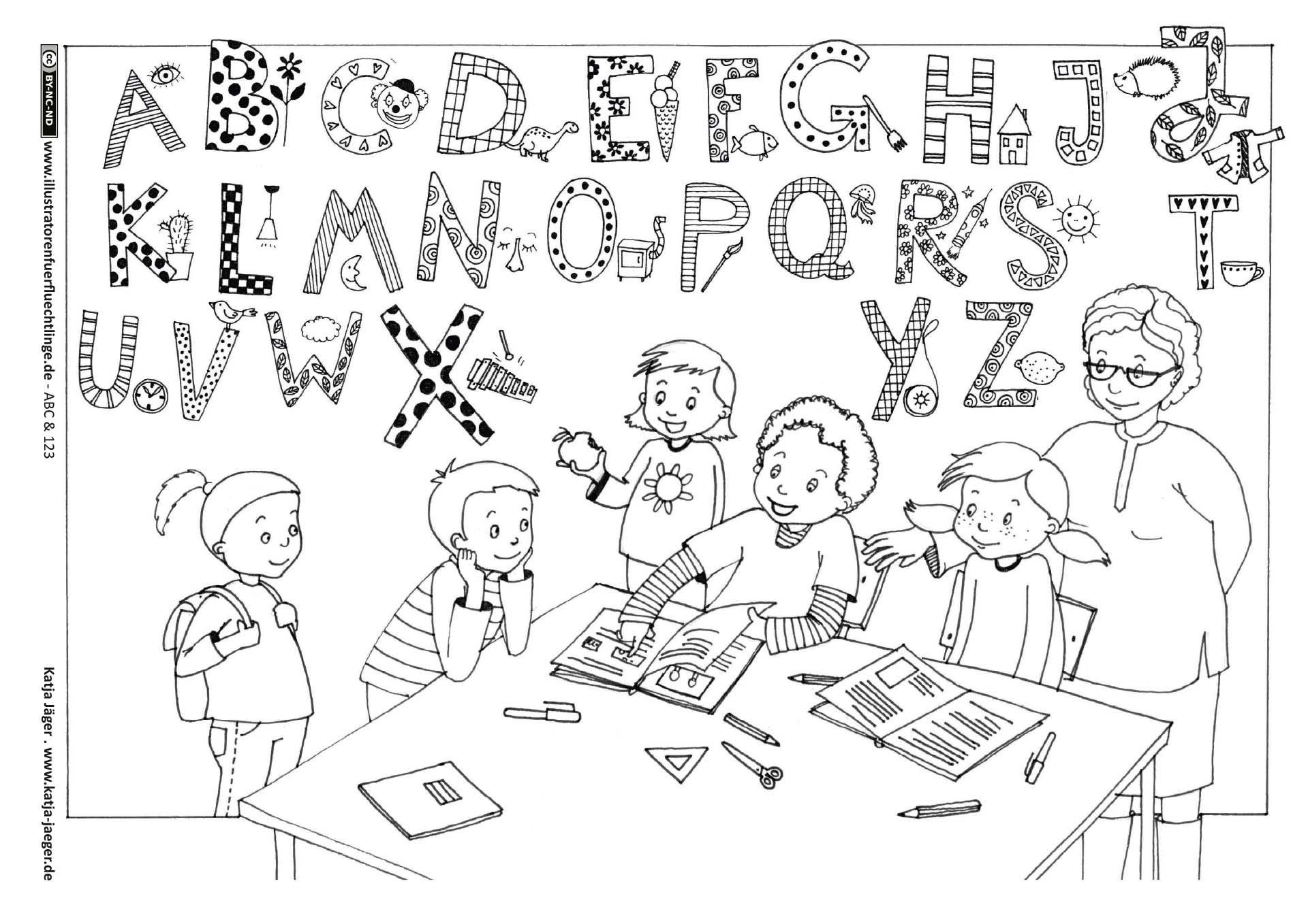 Download als PDF: ABC und 123 – ABC Schule Lernen – Jäger | School ...