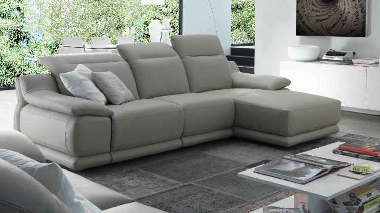 Divano Pelle Grigio Perla.Indianapolis Divano In Pelle Home Sofa Couch E Furniture