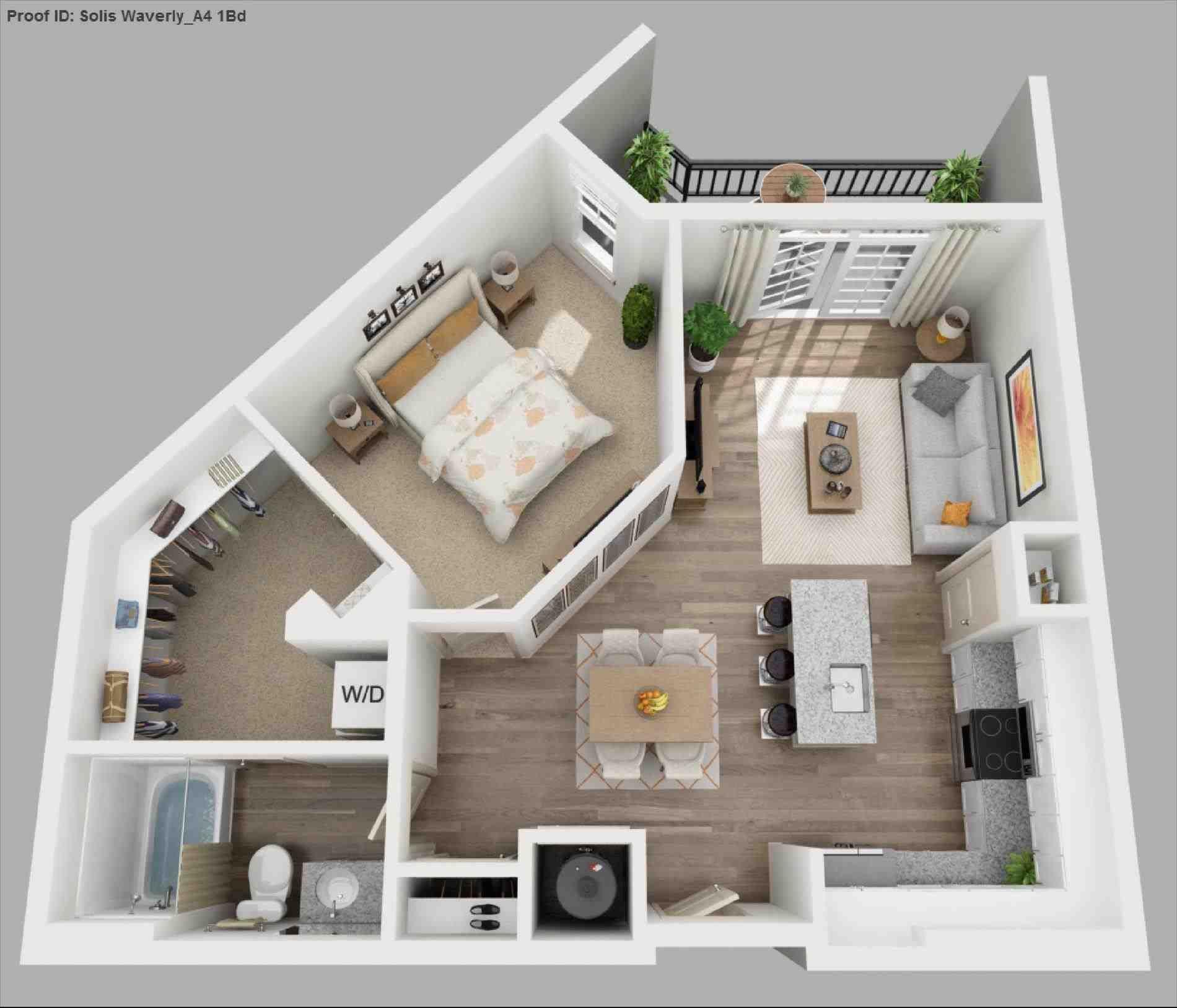 Design Apartment 1 Bedroom Sims House Plans Apartment Floor