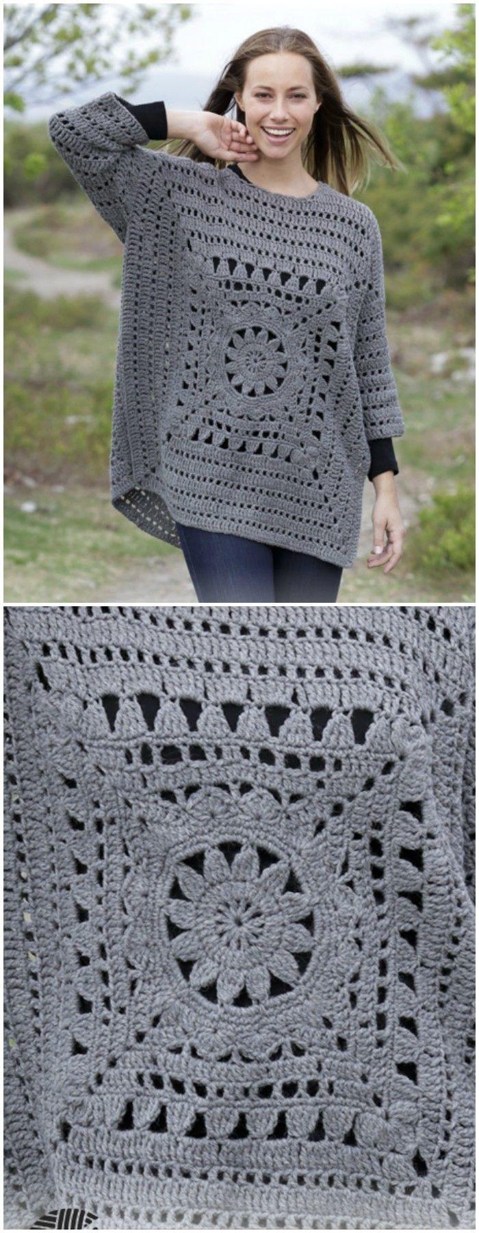 Magic Square Sweater Free Crochet Pattern | Crochet Sweaters ...