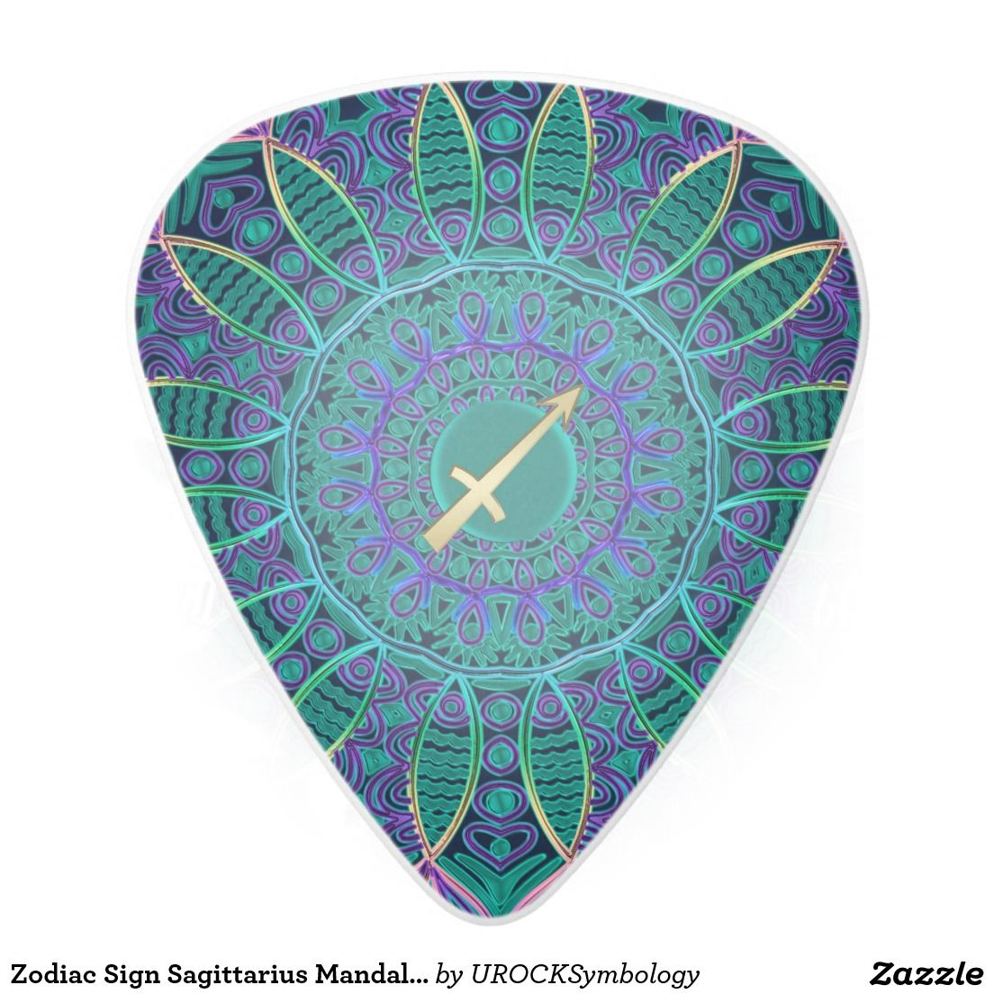 Zodiac Sign Sagittarius Mandala Guitar Pick Zazzle