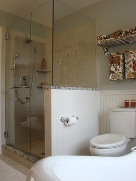 Woodlands Master Bath traditional-bathroom: Side of shower next to Toilet idea