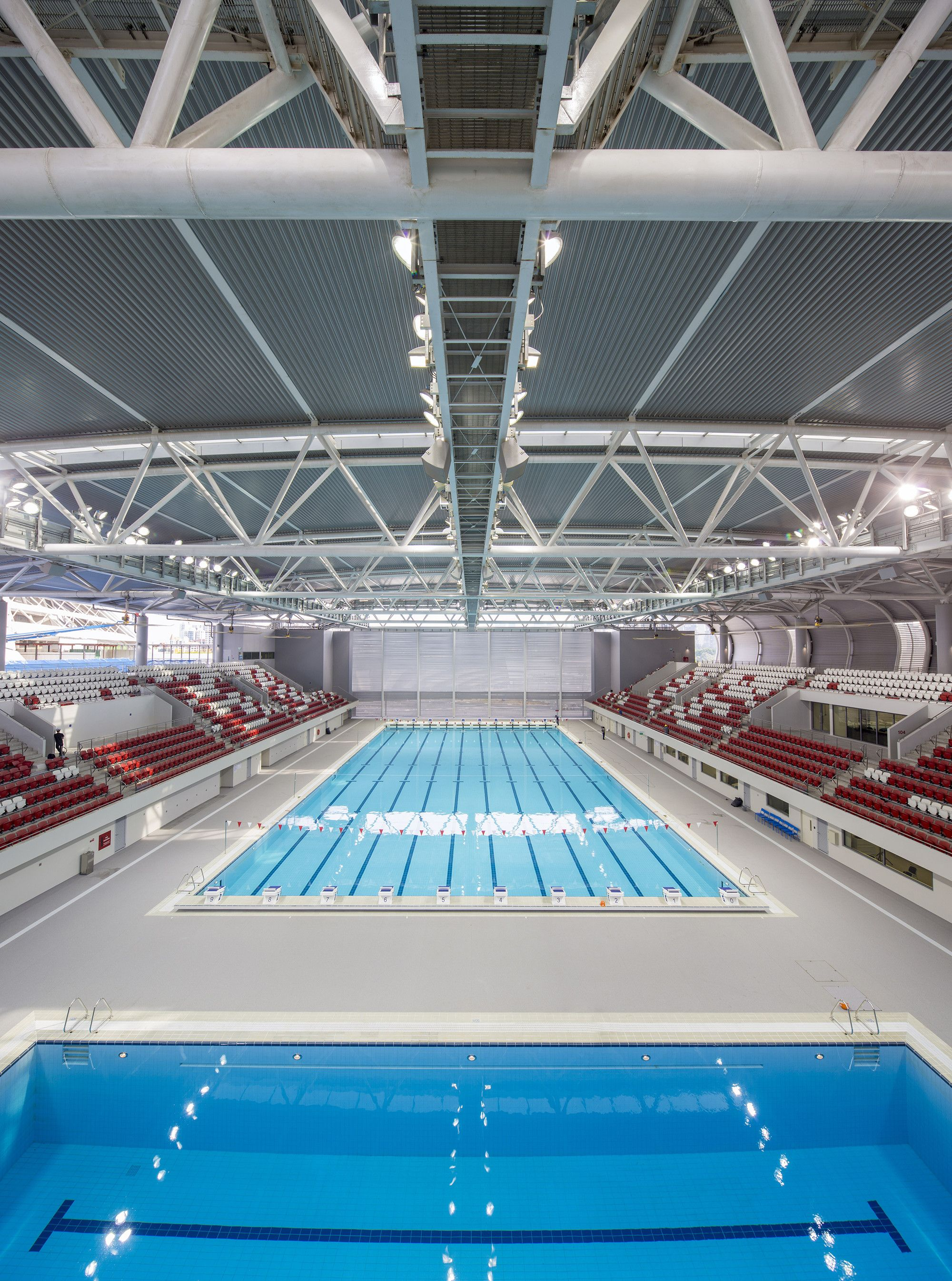 Gallery Of Singapore Sportshub Dparchitects 1 Swimming Pool Architecture Dp Architects Retail Space Design