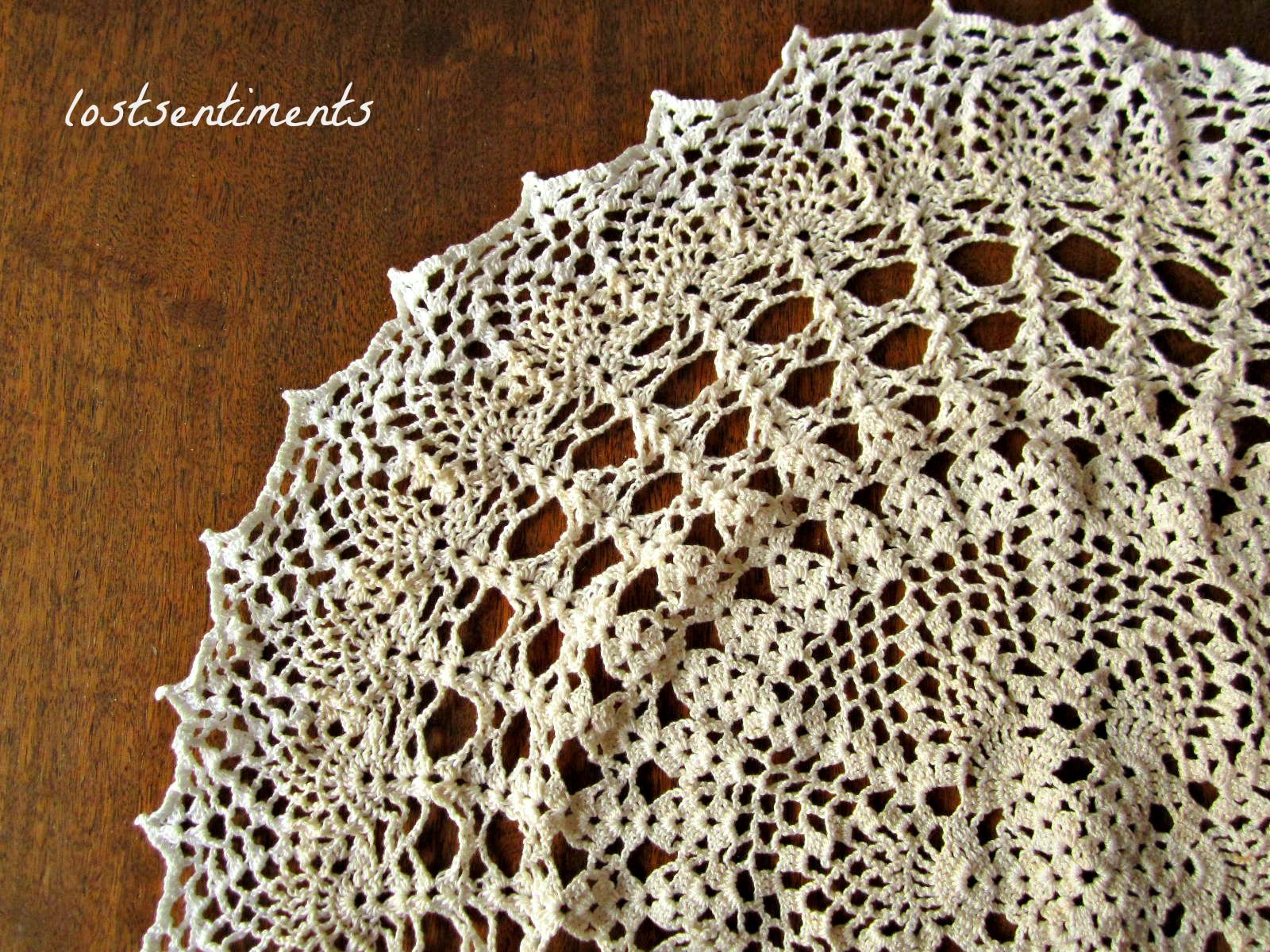 lostsentiments: Vintage Crochet Doily Pattern - Venus | Doily ...
