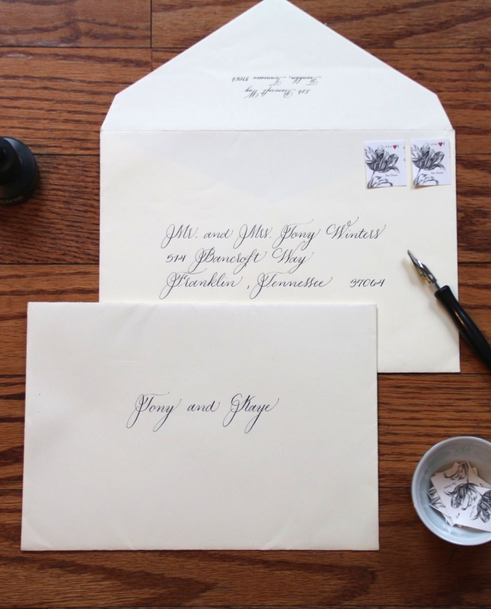 Outer Envelopes For Wedding Stationery