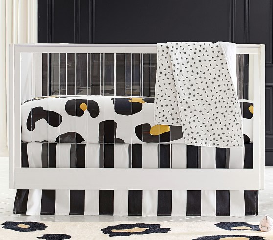 The Emily & Meritt Leopard Print Fitted Crib Sheet (With