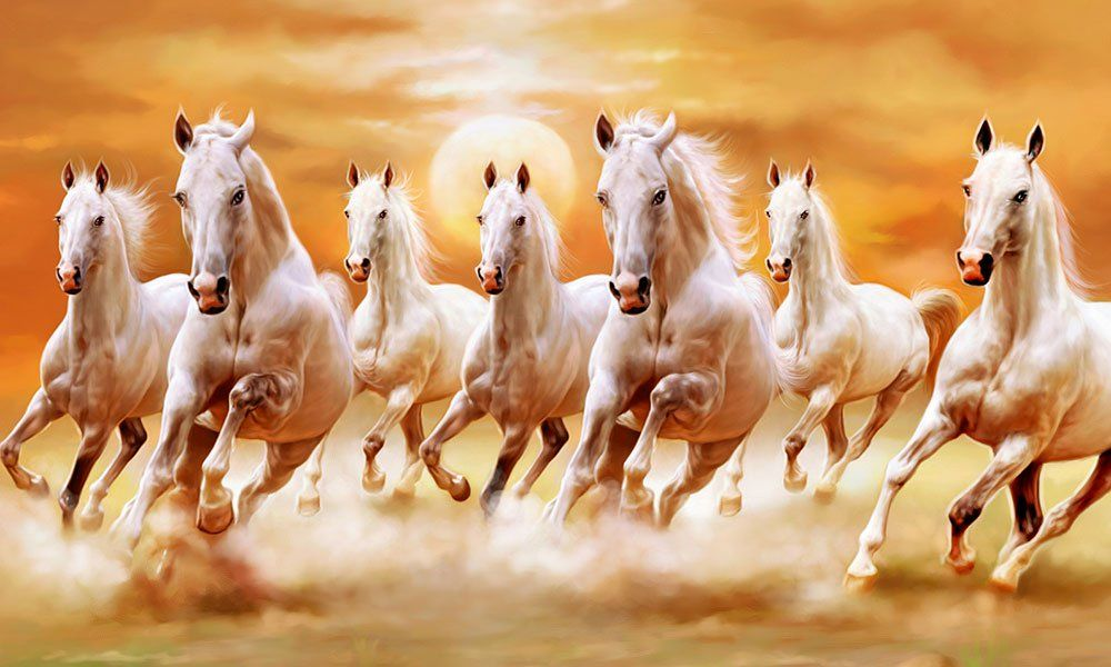 Pin By Shubhangi Tamrakar On Quotes Horse Wallpaper Horse Canvas Painting Seven Horses Painting