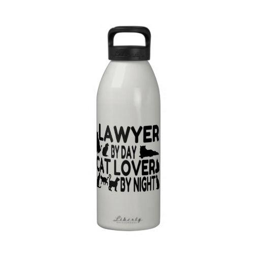 Lawyer Cat Lover Drinking Bottles