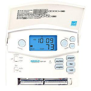 Hunter Home Comfort 44360 Digital 7 Day Programmable Thermostat Walmart Com Programmable Thermostat Home Thermostat Digital Thermostat