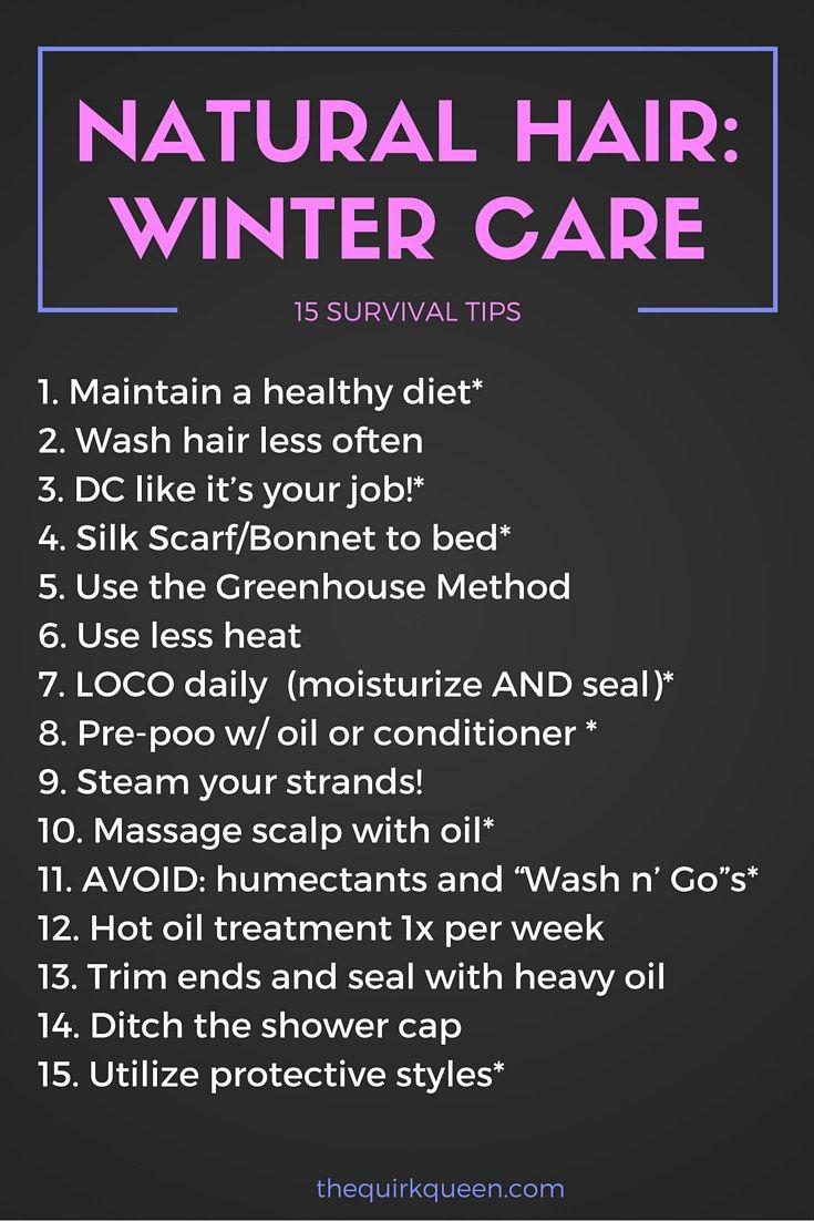 Natural Hair, Winter Care15 Survival Tips Natural hair