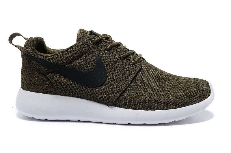 Nike Roshe Run Men Shoes Army Green