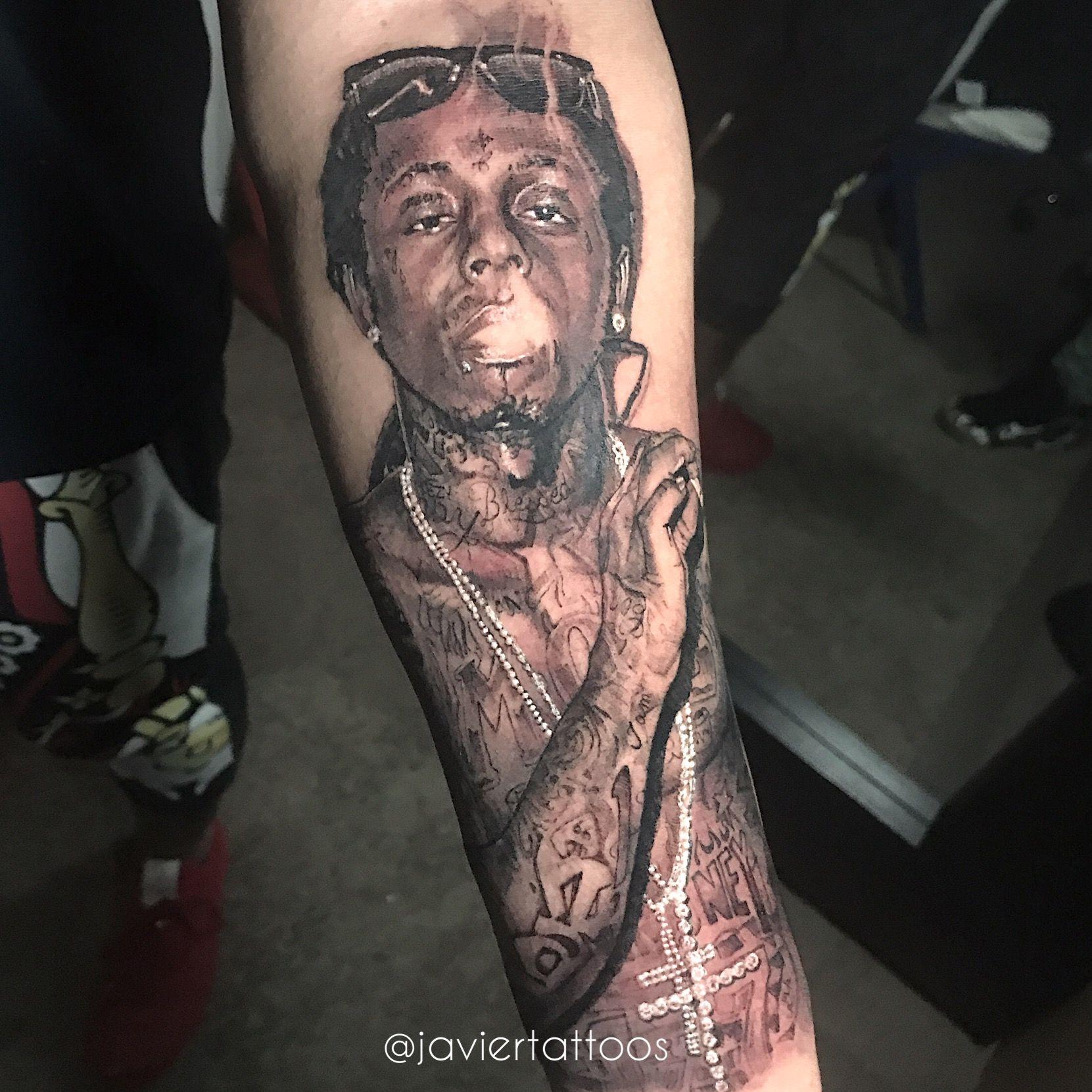 Lil Wayne Tattoo By Javiertattoos Lil Wayne Tattoos Best Rapper Alive