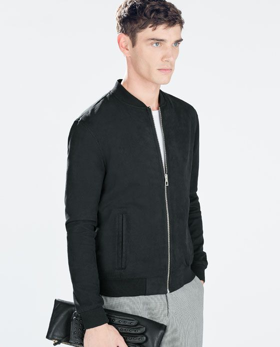 86a6a2a6 FAUX SUEDE JACKET Zara Official Website, Zara Man, Zara United Kingdom,  Suede Jacket