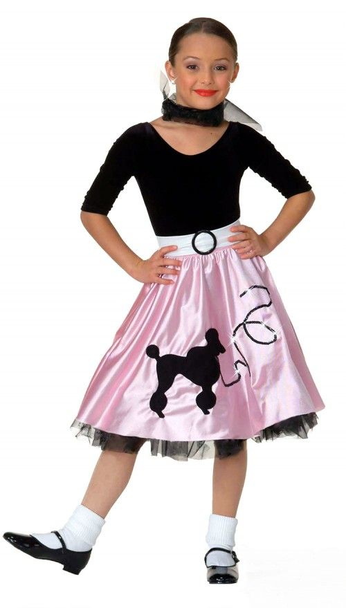 a0a3b39816cc9 50s Clothing | La Mendola Deluxe Girls Jukebox Girl Costume Fifties Costume  Clothing