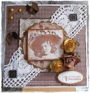Die Kreativeseite von Andrea: Vintage und eine Karte.....