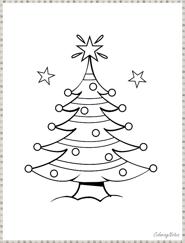 Christmas Tree Coloring Pages Funny For Kids Christmas Tree Coloring Page Colorful Christmas Tree Tree Coloring Page